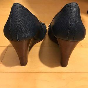 02d71579e2e1e9 Tory Burch Shoes - Tory Burch Newport navy leticia wedge!