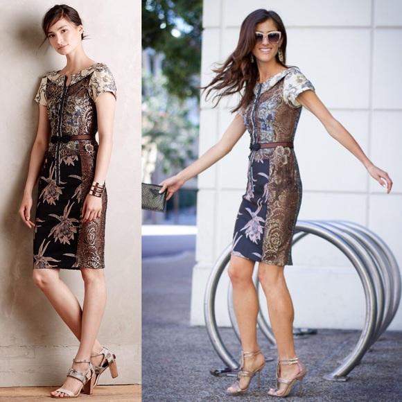2fb5c3e64e7f7 Anthropologie Dresses & Skirts - Anthropologie- Byron Lars Pieced Brocade  Dress