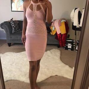 Bebe blush dress