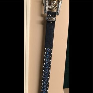 Belt with blue bling/buckle
