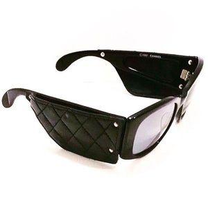 Authentic Vintage Chanel Lambskin Flap Sunglasses