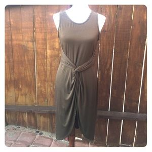 FINAL SALE Tied knot front Midi Made in USA