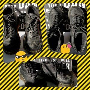 Dr. Martens Shoes - Doc Marten Black Tie-Up Shoes           NWOT
