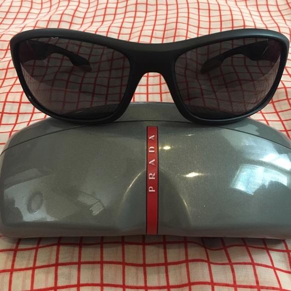 a7e6947e8fa2 NEW Men's PRADA Sports Sunglasses Black SPS 04N 65.  M_590699f6620ff7dda00ce801