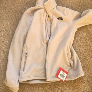 The north face grey fleece jacket Small
