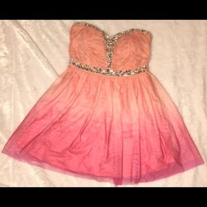 Deb Dresses & Skirts - Pink ombré short homecoming dress