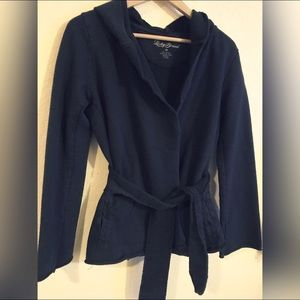 LUCKY BRAND navy belted hoodie