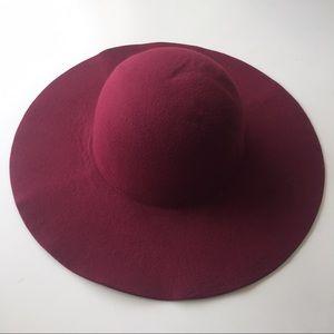 Accessories - Burgundy Felt Hat