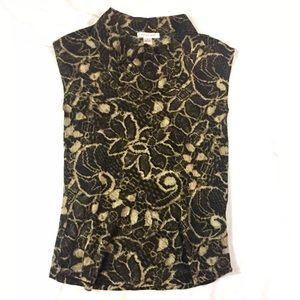 august silk Tops - August Silk Sleeveless Mock Neck Lightweight SZ M