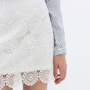 ZARA crochet skirt