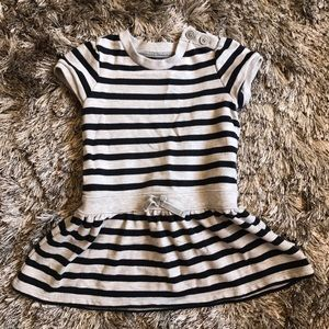 Gray and Black Striped Dress