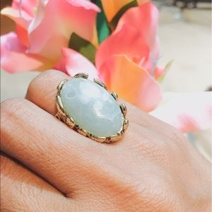 Jewelry - ✨HP✨NORDSTROM Rack  Mint /Gold Leafy Ring