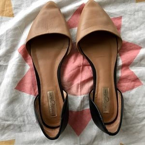 Halogen Shoes - Halogen Nude and Black Flat