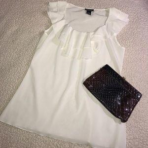 Spense Tops - Spense white ruffle blouse