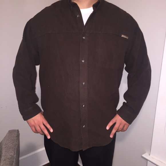 83 off columbia other men 39 s riverlodge heavy flannel for Heavy button down shirts