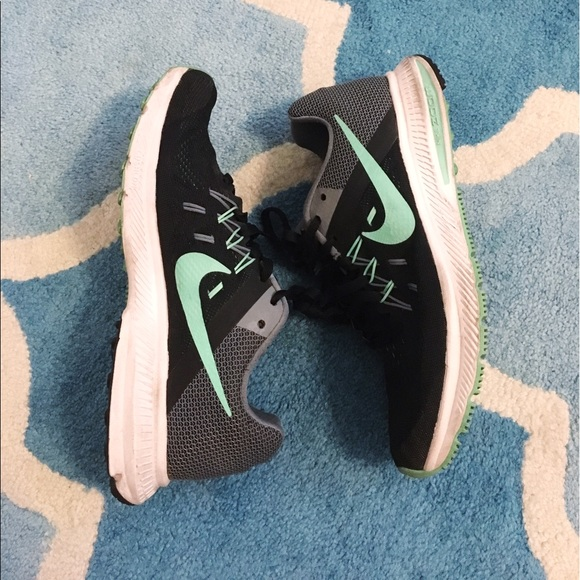 Nike Shoes - Nike Zoom Winflo 2 Black and Mint Green Shoes 6.5