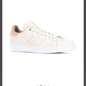 free shipping f58dc 0d64b adidas originals off white stan smith sneakers with tan trim