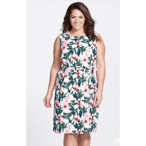 51dafa0662b Vince Camuto Jungle Lily Plus Smocked Yoke Dress