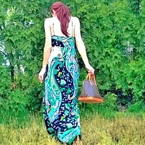 Aqua Dresses & Skirts - Aqua Psychedelic Maxi Dress-New