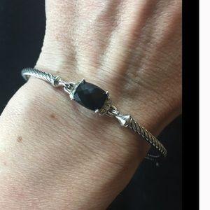 David Yurman Jewelry - David Yurman Onyx and Diamond Bracelet