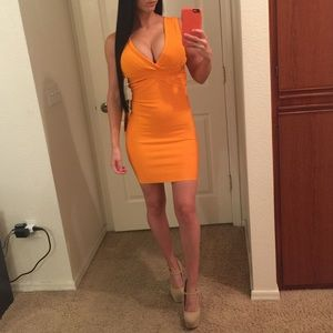 WOW couture Dresses & Skirts - Neon Orange Bandage Dress 🔥