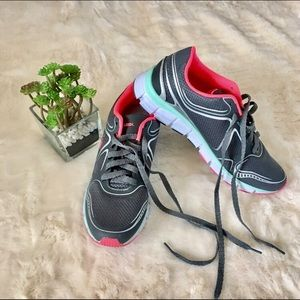 U.S. Polo Assn. Shoes - Polo USSN tennis running shoes gray and pink 8.5