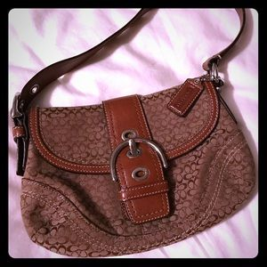 Coach signature brown satchel
