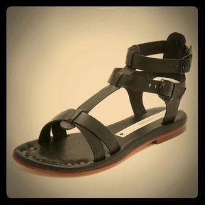 Matt Bernson Shoes - Black Snakeskin Matt Bernson Gladiator Sandals