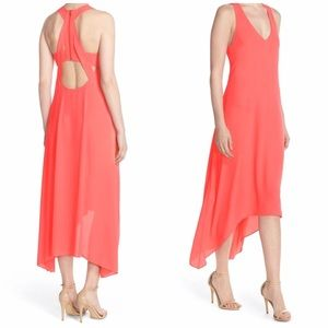 NWT BCBGMAXAZRIA Cutout Hi/Low Maxi Dress