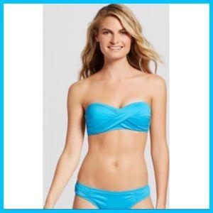 b2257c616a Mossimo Supply Co. Swim - Island Boho Turquoise Twist Bandeau Bikini Top XL