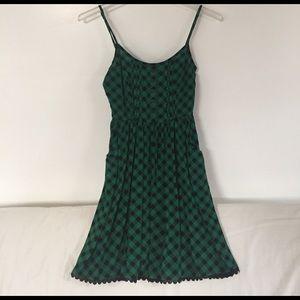 Dresses & Skirts - Green and black plaid dress