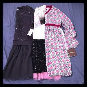 Tea Collection Other - 3x NWT Toddler Girls Long-Sleeve Dresses 4T