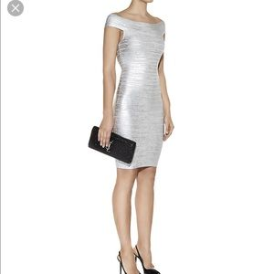 Herve leger silver Bridget dress