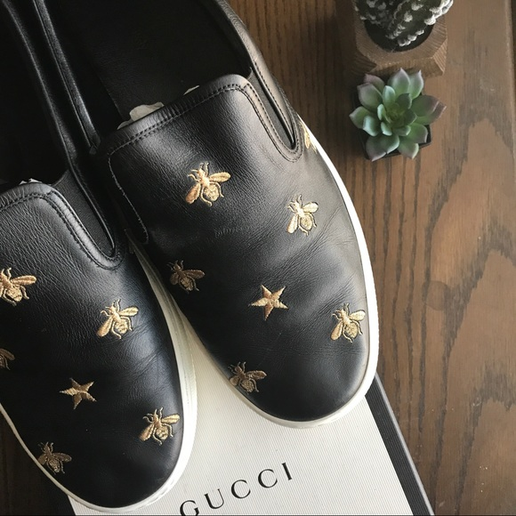 ab4fc30c2 Gucci Shoes | Dublin Bee Star Slipon Sneaker Fw 16 | Poshmark