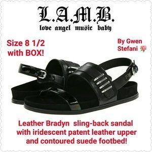 L.A.M.B. Shoes - *SALE* LAMB Leather Slingback Bradyn Sandals, NEW!