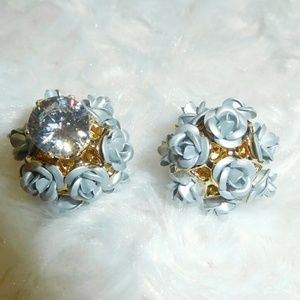 Jewelry - Platinum Rose CZ Crystal Studs