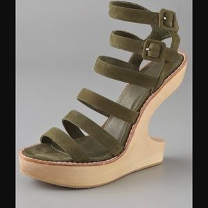 Opening Ceremony Shoes - Opening Ceremony cut-out wedge sandals