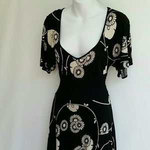 ANTHROPOLOGIE Ric Rac Floral Midi Dress size xs