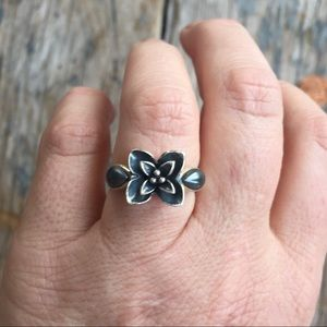 Barneys New York CO-OP Jewelry - Sterling Flower Ring
