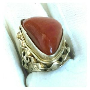 Other - Red Jasper in Sterling Silver - Man or Woman ring
