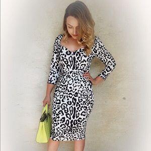 Dresses & Skirts - One of a kind white and black midi dress