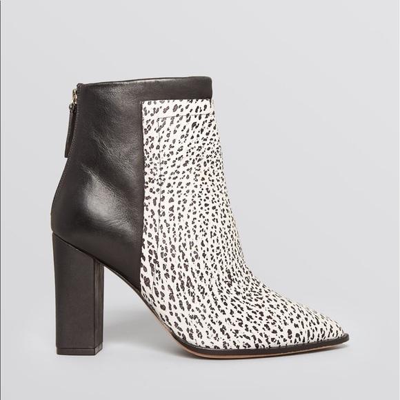 a19847f7eb4b Loeffler Randall Merceir black and white booties