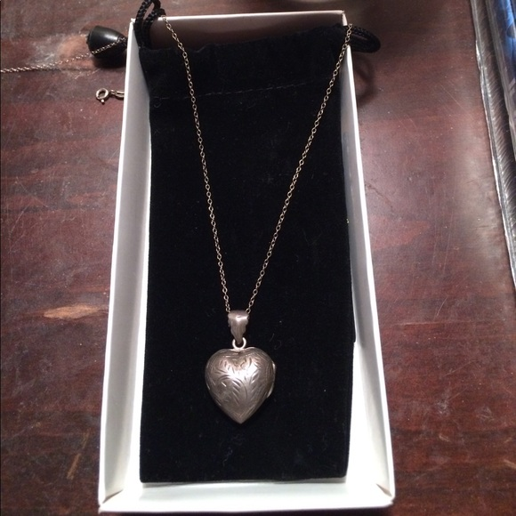 Jewelry - Antique Hand-Engraved Silver Heart Locket