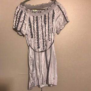 Gorgeous Grey Silk Dress/top