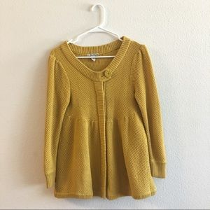 Knitted mustard yellow sweater, cover up, cardigan
