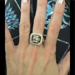 David Yurman Jewelry - ✨David Yurman Diamond Buckle Ring- Size 7