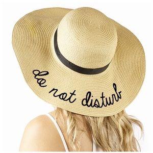 "Accessories - NEW ""Do Not Disturb"" Straw Hat"