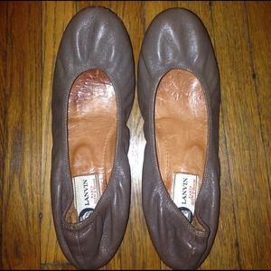 Lanvin Shoes - Lanvin goatskin brown ballet flats size 7!