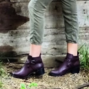 Bare Anthology Shoes - Burgundy Ankle Bootie