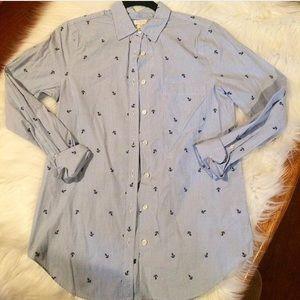 j Crew anchor blouse